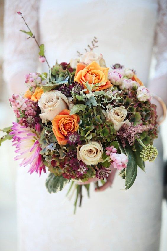 Wedding Bouquet at Gaynes Park Autumn wedding