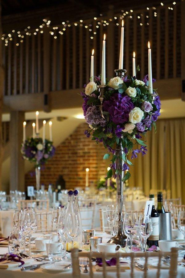 candelabra displays for wedding flowers Gaynes Park