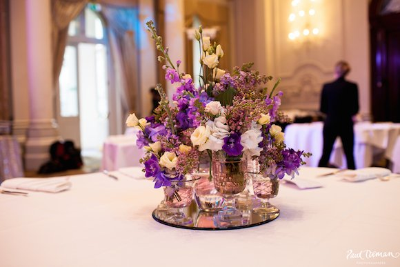 Wedding flowers at the Langham